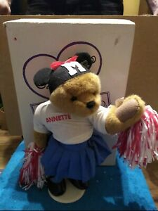 "Annette Funicello Bear Poseable Cheerleader Mouseketeer Pom Poms 16"" Plush"