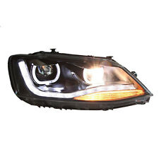 Xenon Headlamp LED DRL Len Black Housing for Volkswagen Jetta MK6 12-15 C
