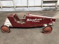 Vintage Bingham Soap Box Derby Hot Rod Rat Racer