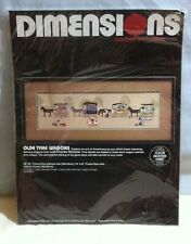 Vintage Dimensions Olde Tyme Wagons Counted Cross Stitch Kit Charles Wysocki NEW