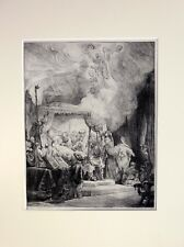 REMBRANDT  'DEATH OF A VIRGIN' B.99 EXRARE 1891 COPPER PLATE ETCHING