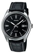 Casio Uhr MTP-1302PL-1AVEF Herrenuhr Leder schwarz