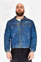 DUK Giubbotto Jeans Vintage Blu Stile Casual TG XL Uomo Man