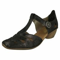 Womens Rieker T Bar Heeled Shoes 43750