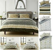 Zara / Peony  DUVET COVER WITH PILLOWCASE  BEDDING SET ALL SIZE