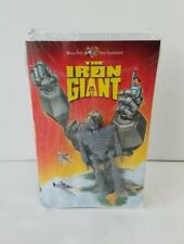 Vtg 1999 The Iron Giant Vhs Tape With Promo Toy Action Figure New