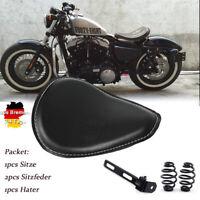 Motorrad Solo Sitz Schwingsattel Sitzfedern Halter für Harley Chopper Sportster