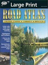 AAA 2001 Road Atlas: United States, Canada, Mexico (2000, Paperback, Large