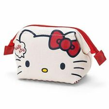 SANRIO HELLO KITTY DOUBLE-SIDED PATTERN CANVAS COSMETIC MAKEUP BAG 275999N