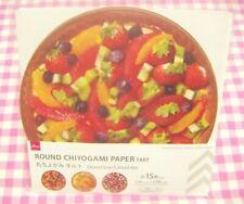 Fruits Tart 3 Round Chiyogami Design Paper / Japan  Strawberry Orange Kiwi