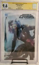 Heroes in Crisis #1 Foil Variant CGC 9.6 Signed by Tom King
