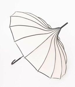 Ivory Polka Dot Pagoda Umbrella
