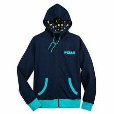 New Disney Parks World Of Pixar Luxo Ball And Lamp Blue Hooded Sweatshirt Size M