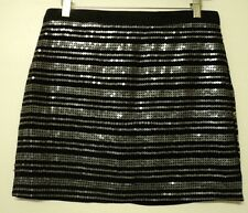 size 4 American Eagle Outfitters SKIRT black sequins mini