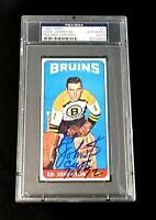 ED JOHNSTON SIGNED TOPPS 1964 TALL BOYS BOSTON BRUINS CARD #21 PSA/DNA AUTO