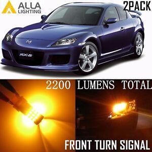 Alla Lighting Front Turn Signal Light Blinker Lamp Amber 7440 LED Bulb for Mazda
