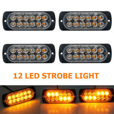 4x 12 LED 12-24V Auto KFZ Frontblitzer Blitzlicht Warnleuchte LKW Strobe Light