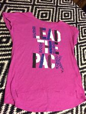 Women's Juniors Old Navy Short Sleeve Graphic Active Go-Dry Top Size Med (10-12)