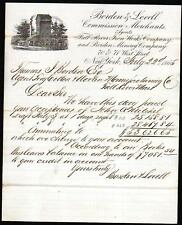 1865 NY Borden & Lovell - Fall River Iron Works Co Borden Mining Co Letter Head