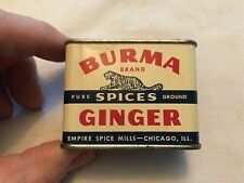 BURMA Ginger Vintage Spice Tin, Great Graphics