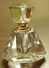 Triangular Shaped Copper Clad Crystal Perfume Bottle