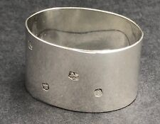 More details for plain oval napkin ring sheffield 1979
