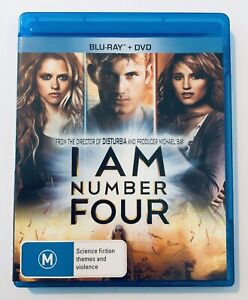 I Am Number Four (Blu-Ray) VGC Rated M Movie 🍿 Region Free Sci-Fi Drama Action