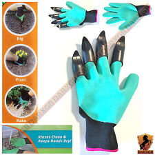 Garden Gloves with built in Claws GENIE for Digging Planting Gardening Unisex