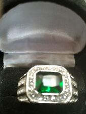 MENS EMERALD LCS DIAMOND WEDDING BAND RING  SZ 9 SZ 11 SZ 12 SZ 13 + GIFT!