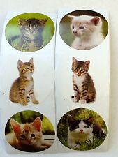 50 Kitty Kitten Cat Animal Stickers Party Favors Teacher Supply