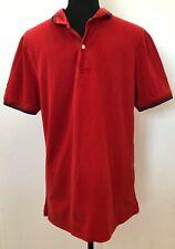 Mens Polo Tshirt Size L Giordano Red <SW5738