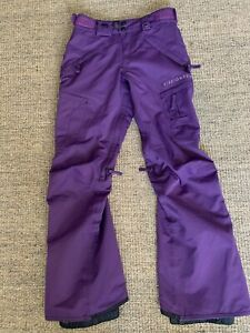 686 infiDry 5K Waterproof Breathable Purple Cargo Snowboard Ski Pants Women's XS