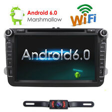 "Fit VW Jetta Passat 8"" 2Din Android 6.0 Car DVD Player GPS WIFI 3G Radio+Camera"