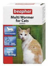 Beaphar Cat Kitten MULTI WORMER Worming Roundworm Tapeworm Treatment 12 Tablets