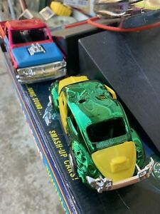 Smash Up Derby Ultra Chrome Set Toltoys 1972 VW Bug and Pick-Up Truck