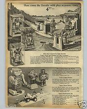 1968 PAPER AD Toy Robot Robots Zeroids Zintar Zobor Zerak Lost In Space Patrol