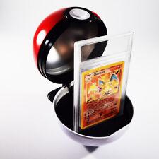 More details for pokemon poke ball card holder - slab or sleeve - uk based