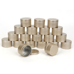 20 Pcs Metal Candle Tins 50ml Empty Containers for DIY Lipstick Candle Making