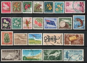S9 ; NZ 1960 PICTORIALS ; COMPLETE SET / 23 FINE-USED ( CAT. $55 FINE-USED )