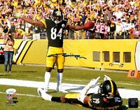 Steelers Antonio Brown Authentic Signed 11x14 Photo JSA Witnessed