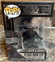 Funko Pop! Star Wars Kylo Ren Supreme Leader Lights & Sound #308 Black Box NEW