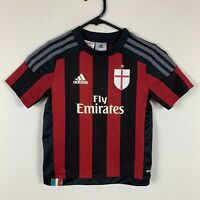 AC Milan Kids Adidas Soccer Jersey Youth Size Size 5-6 Years Good Condition