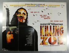 KILLING ZOE - ERIC STOLTZ / JULIE DELPY - ORIGINAL UK QUAD MOVIE POSTER