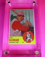 1963 Topps Baseball Card # 518  Don Blasingame NmMt NM Cincinnati Reds