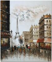 Paris Scene - Hand Painted Modern Impressionist Cityscape Oil Painting 60x50cm