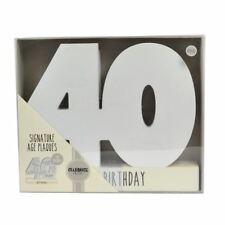 Age 40 Signature Block 40th Birthday Wood Plaque Includes Pen Gift