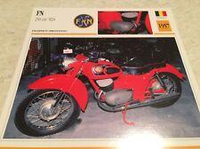 Carte moto FN 250 cm3 M24 proto 1957 collection Atlas Motorcycle Belgique