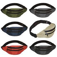2 Fächer Bauchtasche Hüfttasche Gürteltasche für Erwachsene Damen Herren