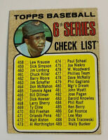 1968 Frank Robinson Checklist 6th Series # 454 Orioles Topps Baseball Card HOF