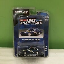 GREENLIGHT HOT PURSUIT NEVADA HIGHWAY PATROL 1989 FORD MUSTANG LX SHIPS FREE